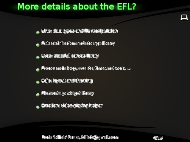 more details about the EFL?