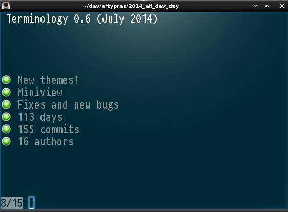 Terminology 0.6 (July 2014)