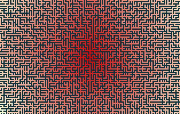 maze with shading from center